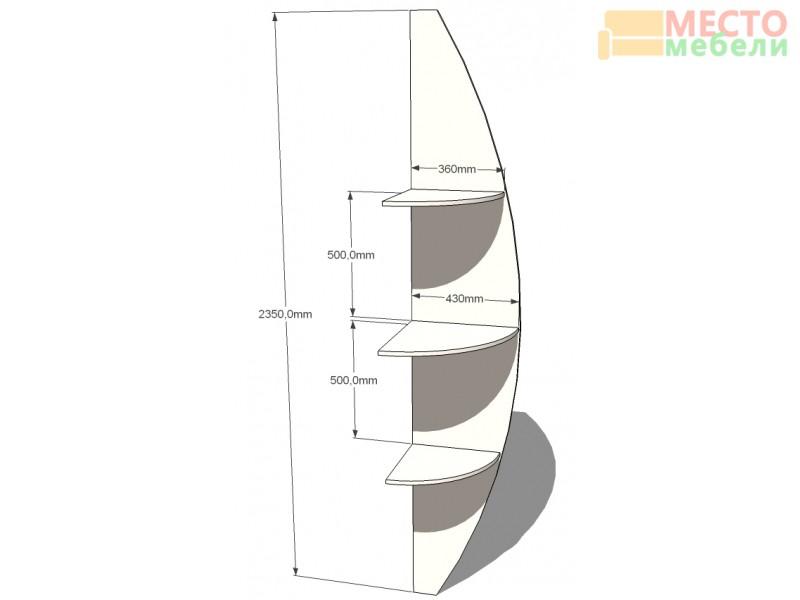 """Радиусный шкаф купе """"Радион"""" с угловыми элементами (радиусные)"""