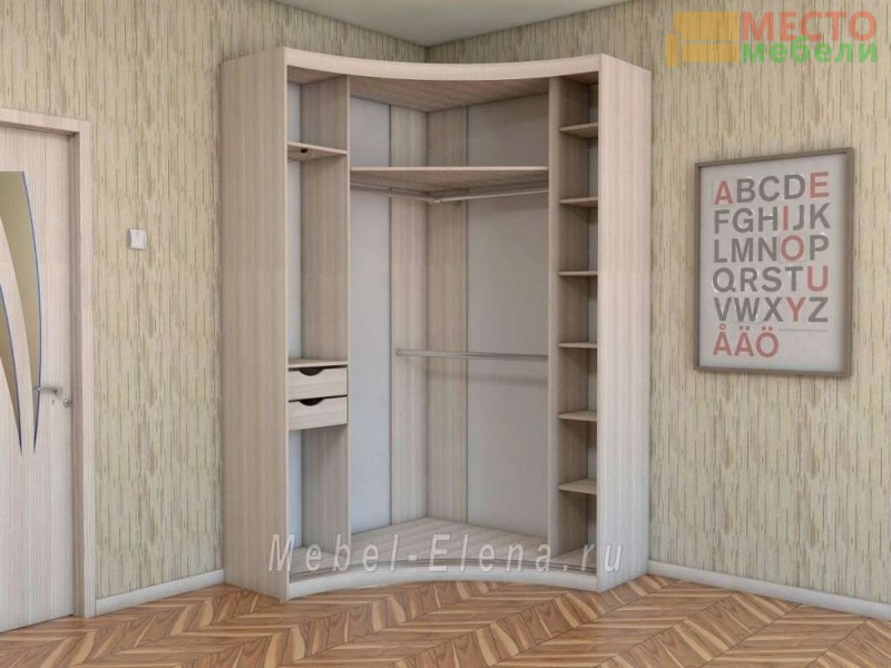 """Радиусный шкаф купе """"Родос"""""""