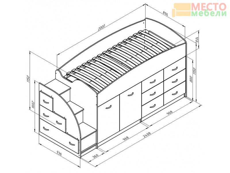 Кровать чердак Дюймовочка-4