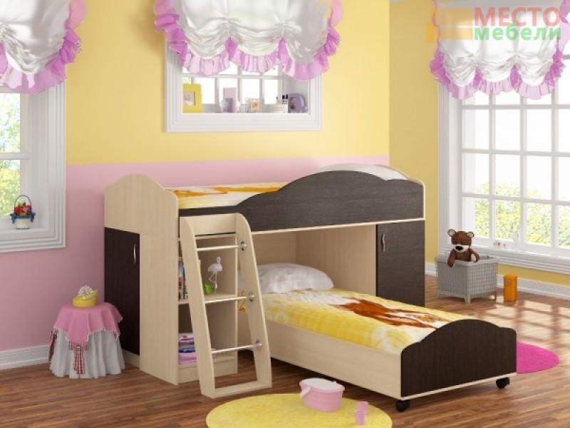 Кровать-чердак Дюймовочка-5 (набор 1)