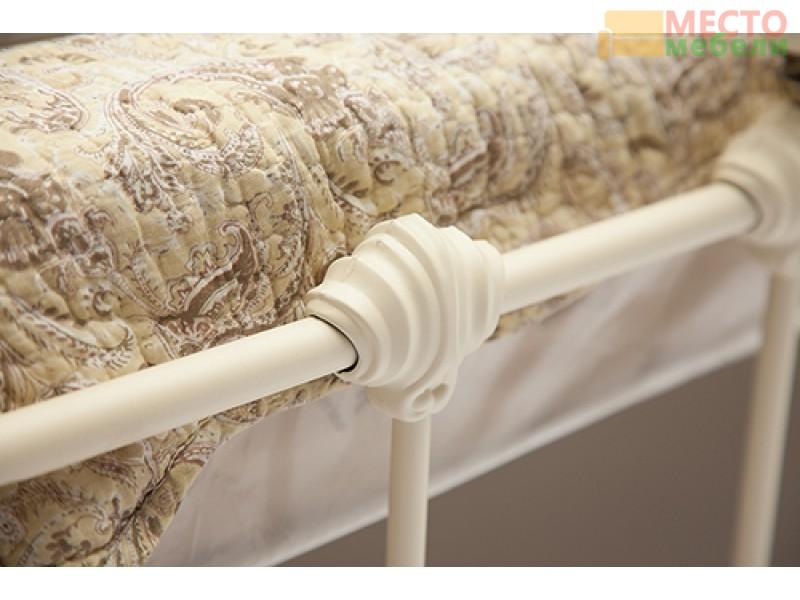 Кровать двуспальная белая «Диана» (Diana) + основание