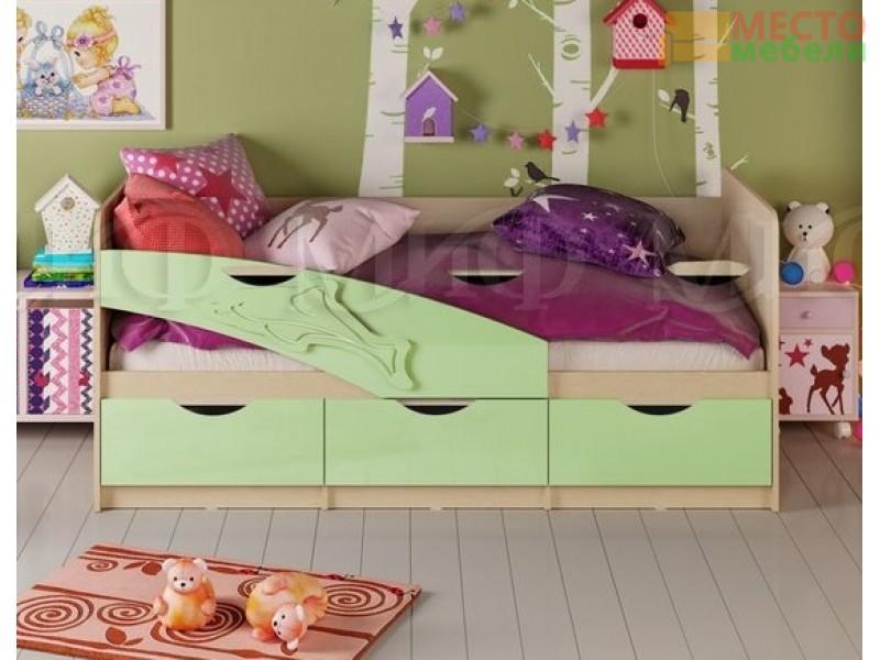 Детская кровать Дельфин МДФ матовый 1,6