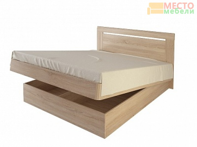 Кровать 28.1 с подъемным механизмом (160*200), ель