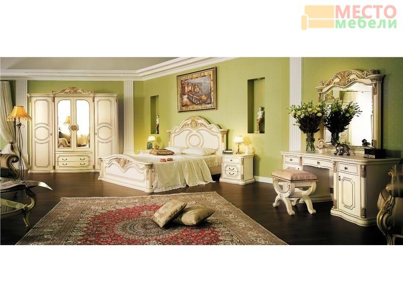 Комплект мебели для спальни с 5-ти ств. шкафом Марокко (крем)