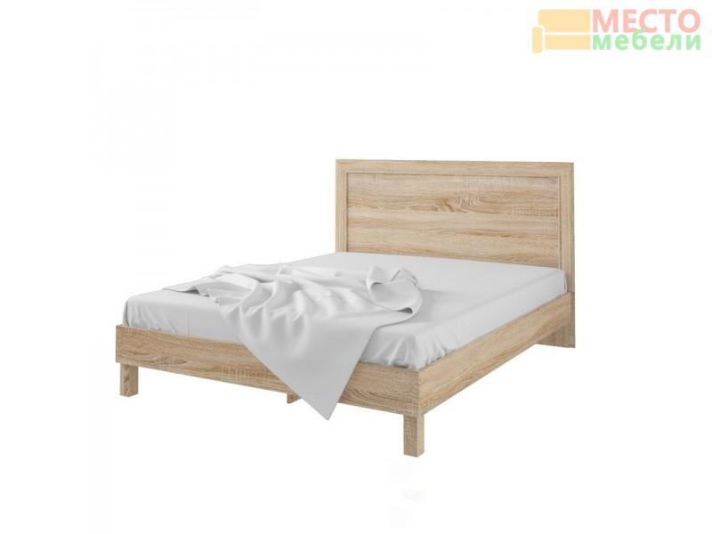 Кровать 93.01 (ель) + спинка С № 7 (ель)