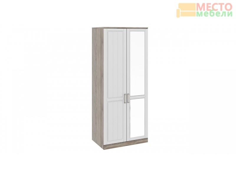 Шкаф для одежды с 1-ой глухой и 1-ой зеркальной дверями «Прованс» СМ-223.07.005R