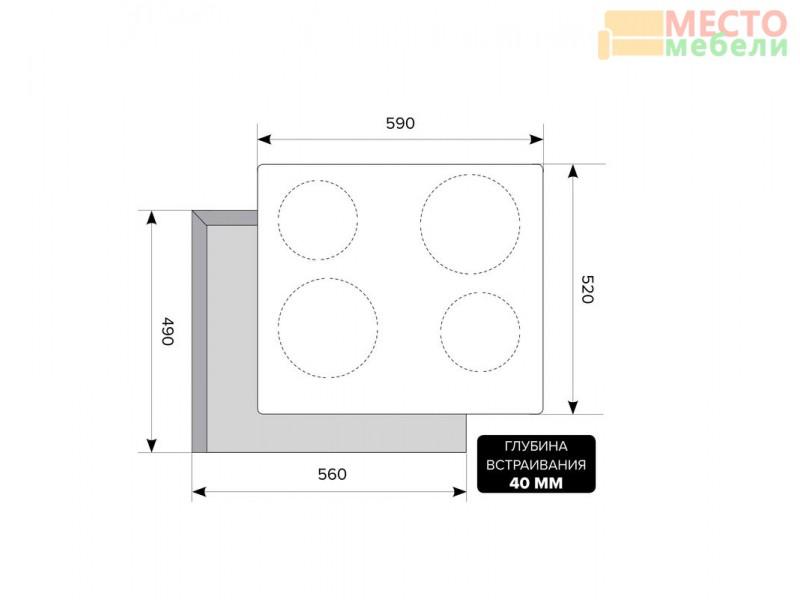 Электрическая варочная панель EVH 640 WH White