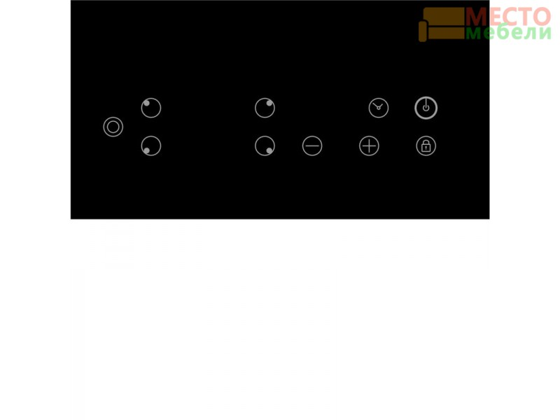Электрическая варочная панель EVH 641 BL Black