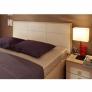Кровать 1600 люкс Амели 201 с основанием металл (беленый дуб)