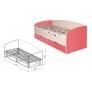 Кровать 800 с ящиками № 16 Евро