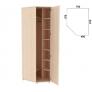 Несимметричный угловой шкаф 537.01 Гарун-К