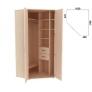 Несимметричный угловой шкаф 535.01 Гарун-К