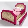 Кровать с мягкой спинкой Лилак Люксор (велюр)