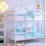 Кровать-домик двухъярусная Baby Roof 2 (80*160) c ящиками