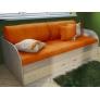 Комплект из пяти диванных подушек и покрывала Фанки
