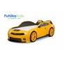 Кровать-машина объемная (3d) EVO Camaro, желтый