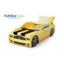 Кровать-машина Мустанг, желтый