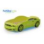 Кровать-машина объемная (3d) Мустанг, зеленый