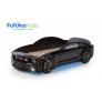 Кровать-машина объемная (3d) Мустанг, черный