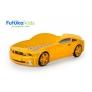 Кровать-машина объемная (3d) Мустанг, желтый