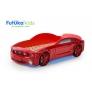 Кровать-машина объемная (3d) Мустанг, красный