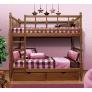 Кровать двухъярусная с фигурными спинками