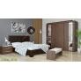 Кровать 2-х спальная 227.2 (МК-44) коричневая