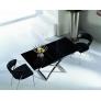 Стол-трансформер В2275 черное стекло