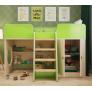 Кровать чердак игровая Зеленая