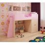 Кровать чердак игровая Розовая