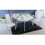 Стол обеденный раздвижной со стеклом Марсель СМ(Б)-102.01.12(1) белый