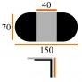 Стол Лион-ПМ 70x110/150