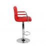 Барный стул Крюгер АРМ WX-2318C экокожа, красный