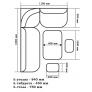 Кухонный уголок Орхидея (ясень/221/101)