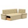 Кухонный диван угловой Деметра (вельвет люкс)