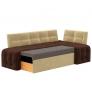 Кухонный диван угловой Люксор (вельвет люкс)