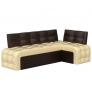 Кухонный диван угловой Люксор (экокожа)