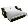 Прямой диван Меркурий (бежевый\зеленый) микровельвет