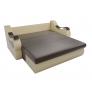 Прямой диван Меркурий (коричневый\бежевый) экокожа