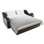 Прямой диван Меркурий (бежевый\коричневый) экокожа