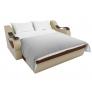 Прямой диван Меркурий (коричневый\бежевый) рогожка экокожа
