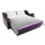 Прямой диван Меркурий (фиолетовый/черный) микровельвет экокожа