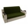 Прямой диван Меркурий (зеленый\бежевый) микровельвет