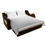 Прямой диван Меркурий (бежевый\коричневый) микровельвет