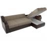 Угловой диван Меркурий коричневый (корфу 02/экокожа)