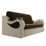 Прямой диван Меркурий (коричневый\бежевый) микровельвет