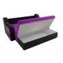 Прямой диван Меркурий (фиолетовый\черный) микровельвет