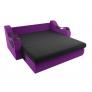 Прямой диван Меркурий (черный\фиолетовый) микровельвет