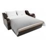 Прямой диван Меркурий (бежевый\коричневый) рогожка экокожа