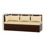 Кухонный диван с углом Метро (экокожа)